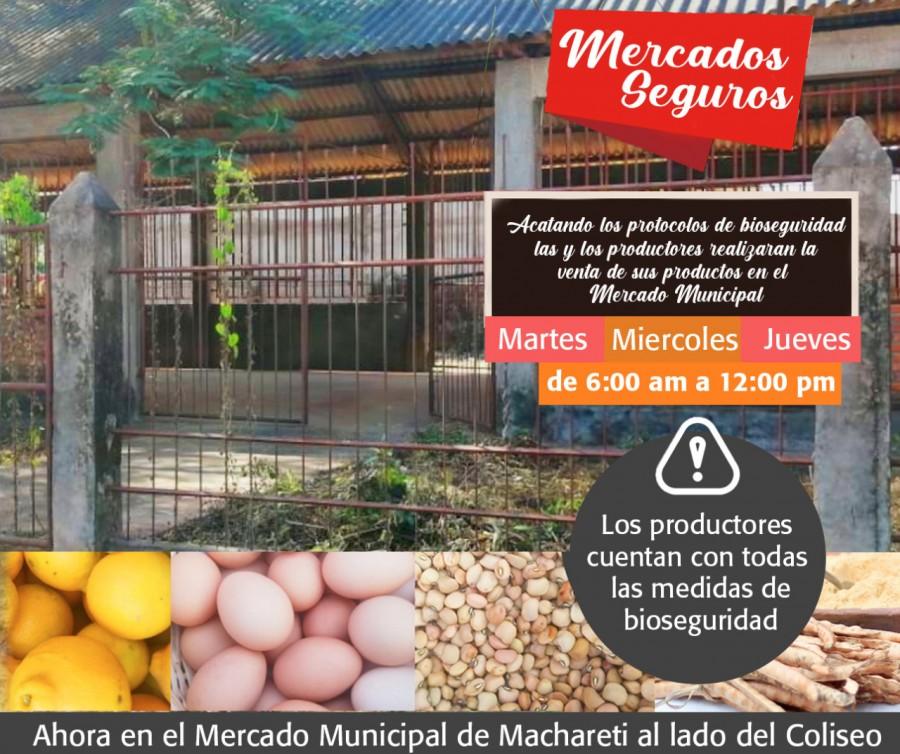 Inicio de actividades comerciales en el Mercado Municipal de Machareti