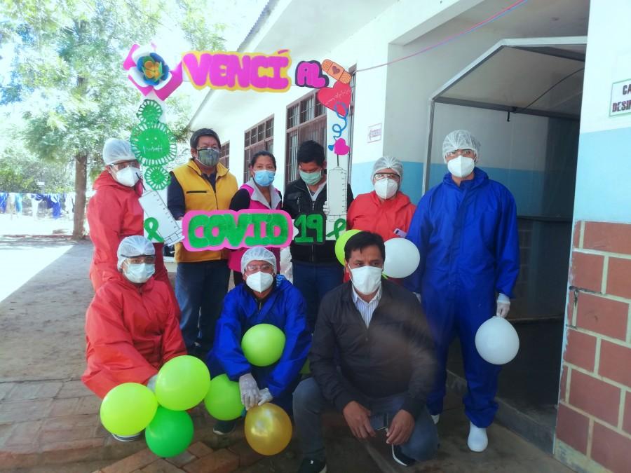 Pacientes recuperados de Covid-19, reciben alta médica en Machareti
