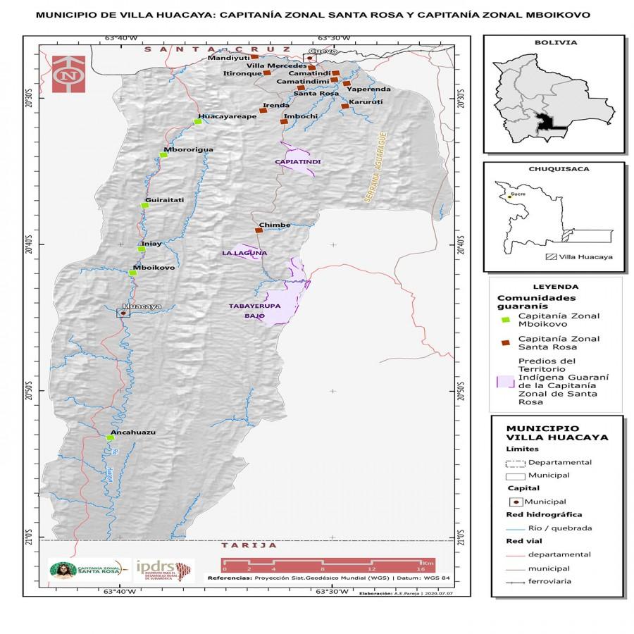 Santa Rosa de Huacaya  ya cuenta con su georreferenciación de su territorio