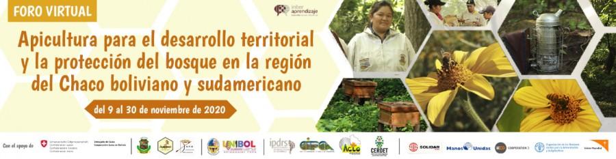 Foro Virtual : Apicultura para el desarrollo territorial y la protección del bosque en la región del Chaco Boliviano y Sudamericano