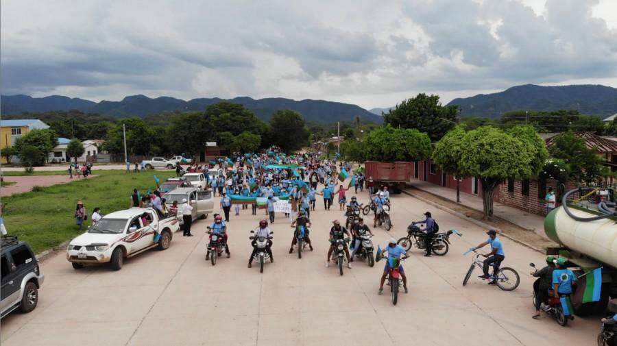 Con miras al gobierno municipal, la organización indígena Capitanía Zona Macharetí- CZM-APG, cierra su Campaña electoral con gran determinación